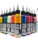 Mực xăm Solid tattoo ink set 25 màu